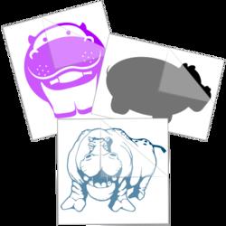 Hippopotamus Car Stickers and Decals
