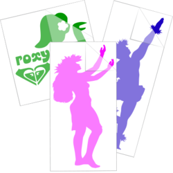 Hula Dancer Car Stickers and Decals