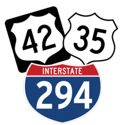 Interstate and Highway Number Sign Stickers and Decals