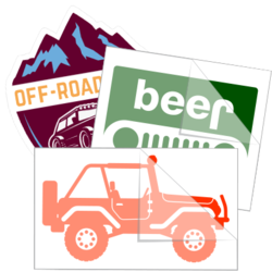 Jeep & Off Road Car Stickers and Decals