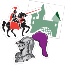 Knight and Castle Car Stickers and Decals