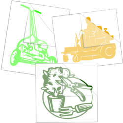 Landscaper Car Stickers and Decals