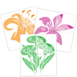 Lily Flower Car Stickers and Decals