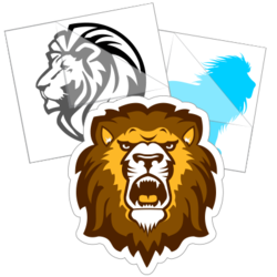 Lion Stickers and Decals