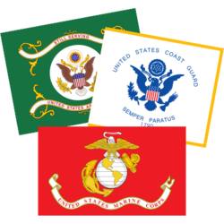 Military Flag Car Stickers and Decals