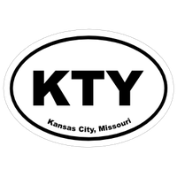 Missouri Cities Oval Car Stickers and Decals
