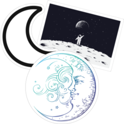 Moon Car Stickers and Decals