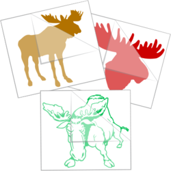 Moose Car Stickers and Decals
