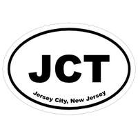 New Jersey Cities Oval Car Stickers and Decals