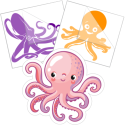 Octopus Stickers and Decals