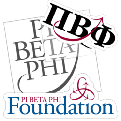 Pi Beta Phi Car Stickers and Decals