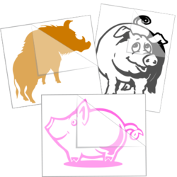 Pig Car Stickers and Decals