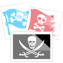 Pirate Flag Car Stickers and Decals