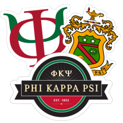 Phi Kappa Psi Car Stickers and Decals