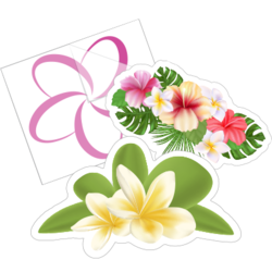 Plumeria Flower Car Stickers and Decals