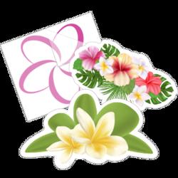 Plumeria Flower Car Stickers and Decals