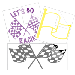 Racing Flags Car Stickers and Decals