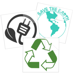 Recycle & Go Green Car Stickers and Decals