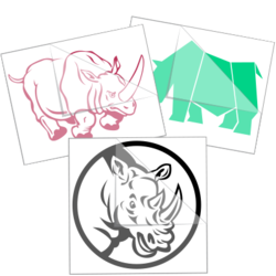 Rhinoceros Car Stickers and Decals