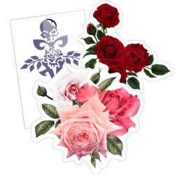 Rose Flower Car Stickers and Decals
