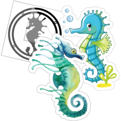 Seahorse Car Stickers and Decals