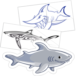 Shark Stickers and Decals