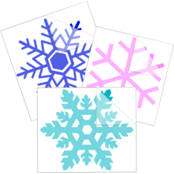 Snowflake Car Stickers and Decals
