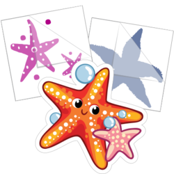 Starfish Stickers and Decals