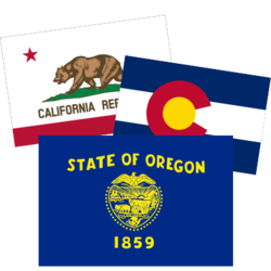 US State Flag Car Stickers and Decals