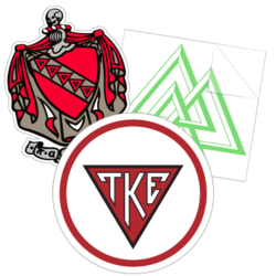 Tau Kappa Epsilon Car Stickers and Decals