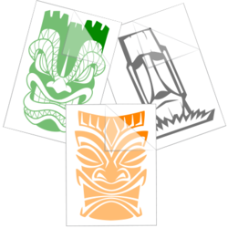 Tiki Car Stickers and Decals