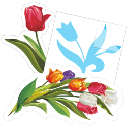 Tulip Flower Car Stickers and Decals