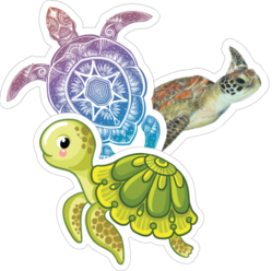 Turtle Car Stickers and Decals