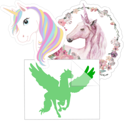 Unicorn and Pegasus Car Stickers and Decals