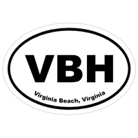 Virginia Cities Oval Car Stickers and Decals