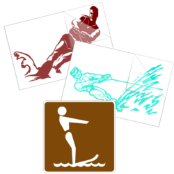 Water Skiing Car Stickers and Decals