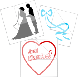 Wedding Car Stickers and Decals