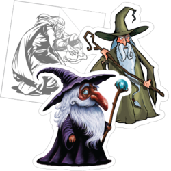 Wizard Car Stickers and Decals
