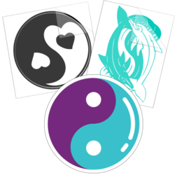 Yin and Yang Car Stickers and Decals