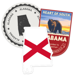 Alabama Car Stickers and Decals
