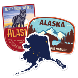 Alaska Car Stickers and Decals