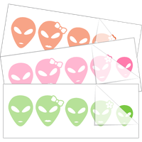 Alien Family Stick Figure Car Stickers and Decals