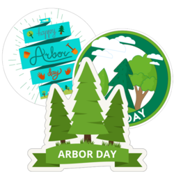 Arbor Day Car Stickers and Decals