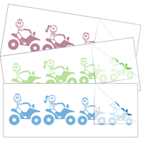 ATV Four Wheeler Family Car Stickers and Decals