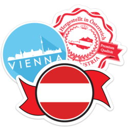 Austria Car Stickers and Decals