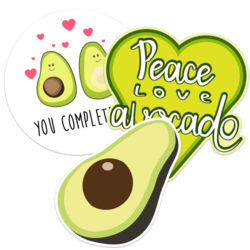 Avocado Car Stickers and Decals