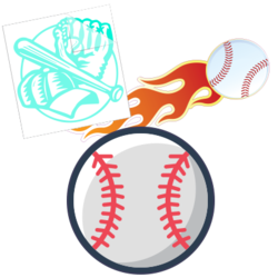 Baseball Car Stickers and Decals