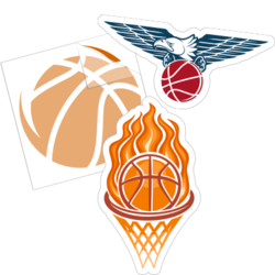 Basketball Car Stickers and Decals