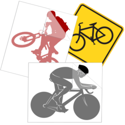 Bicycling Car Stickers and Decals