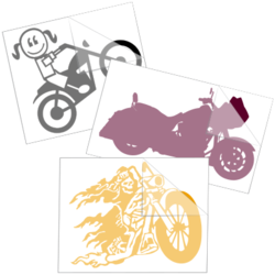 Biker Car Stickers and Decals